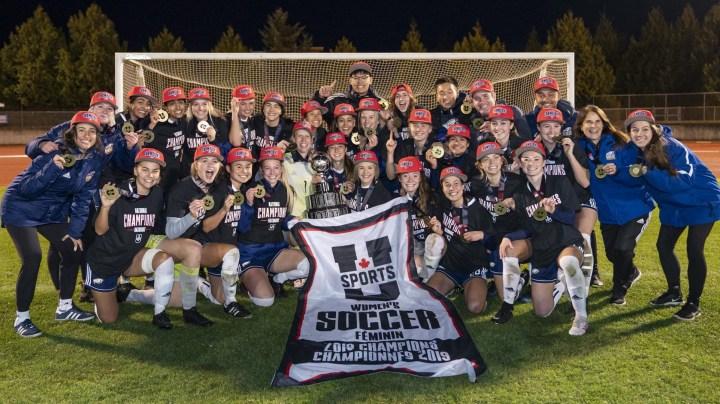 Women's soccer 2019 National championship banner