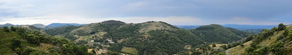 Panorama vers Genestelle fin juin 2014