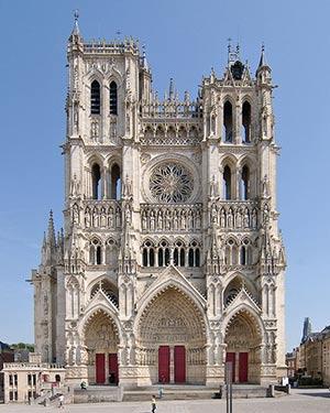 Cattedrale Di Amiens Famosa Per La Testa Di Giovanni