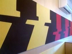 thi công tiêu âm tường với tấm polyester fiber