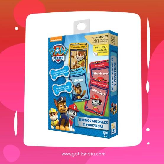 FLASH CARDS BUENOS MODALES Y PRACTICAS PAW PATROL