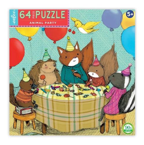 Rombecabezas Eeboo 64 piezas: Fiesta De Animales