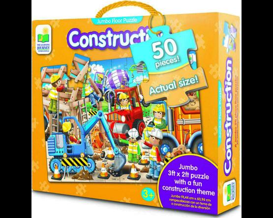 ROMPECABEZAS DE PISO 50 PIEZAS JUMBO LEARNING: LA CONSTRUCCIÓN