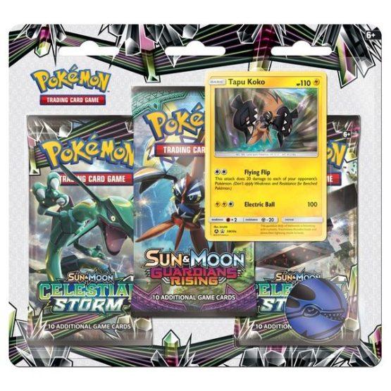 Pokémon TCG: Sun & Moon—Celestial Storm Three-Booster Blister (SOBRE PEDIDO )