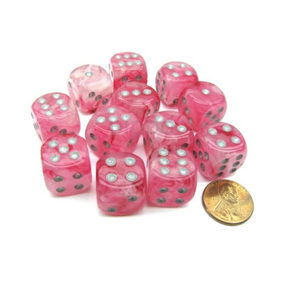 Chessex: Block of 12mm Ghostly Glow d6 Dice (SOBRE PEDIDO)