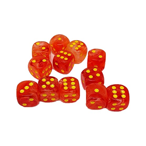 Chessex: Block of 16mm Ghostly Glow d6 Dice (SOBRE PEDIDO)