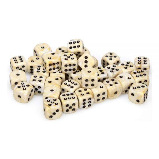 Chessex: Block of 12mm Marble d6 Dice(SOBRE PEDIDO)