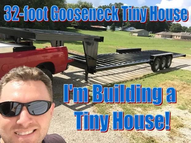 Tiny House Build – Work Day 3 – Installing my Tiny House Gooseneck Trailer Subfloor (THOW)