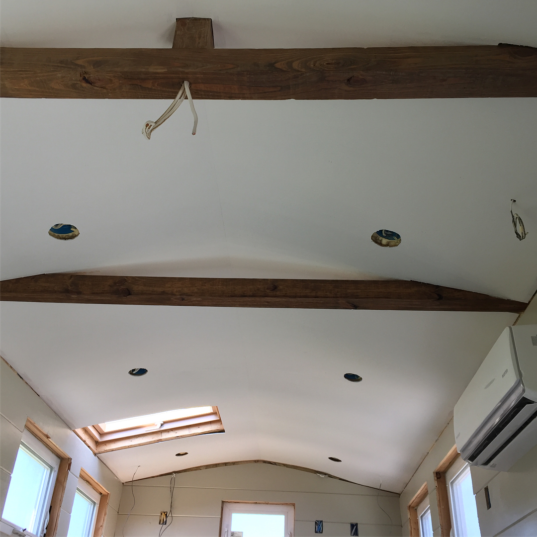 ceilings done on the TaHOW tinyhouseonwheels ! It was ahellip