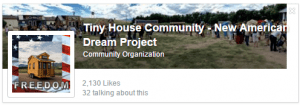 Go Tiny Be Free - Tiny House Communities - The New American Dream Project Facebook page