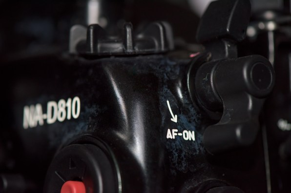 The AF-ON access lever on the NAD810