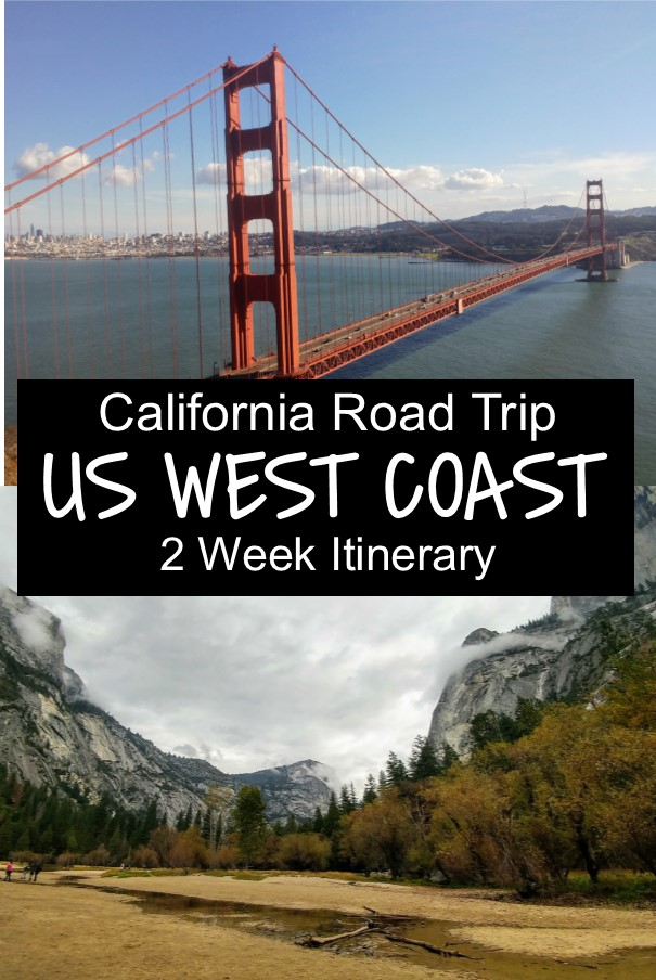 West Coast America - 2 Week Itinerary with Map and Photos