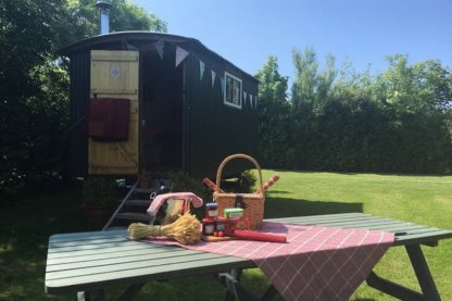 Shepherds Hut - unusual places to stay in Wales