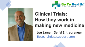 Clinical Trials How They Work in Making New Medicines - Research Data Support, LLC
