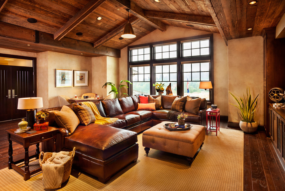 Tips To Decorate Brown Leather Sofa  332   Furniture Ideas Genuine Traditional Leather Sofa  Image 13 of 17