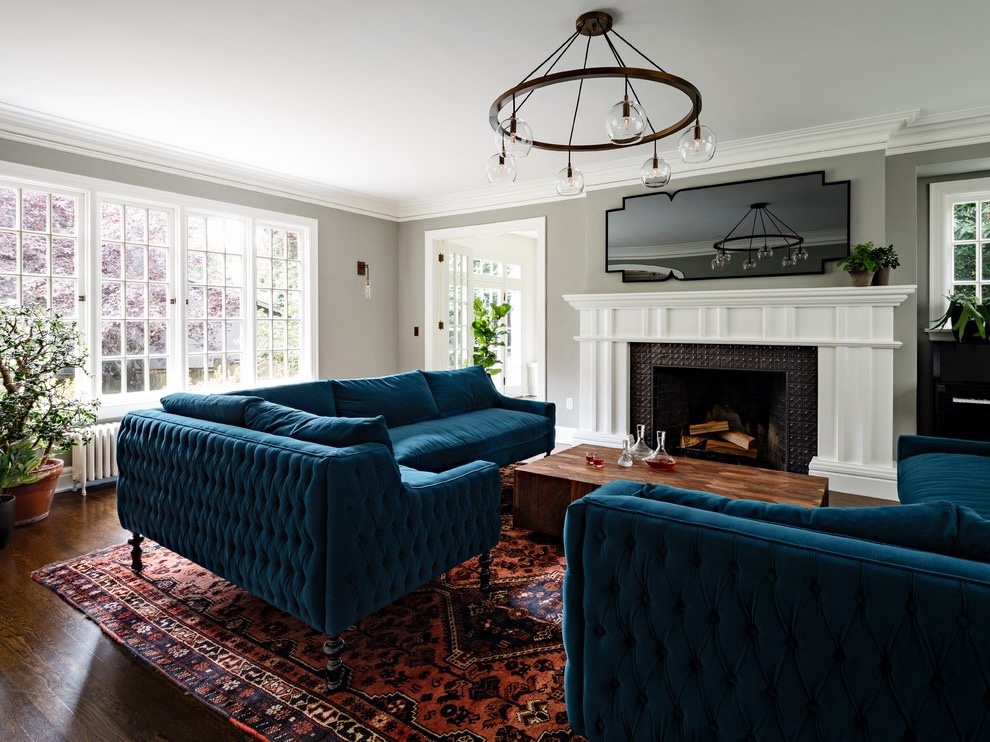 Modern Blue Sofa For Living Room Decoration 16189