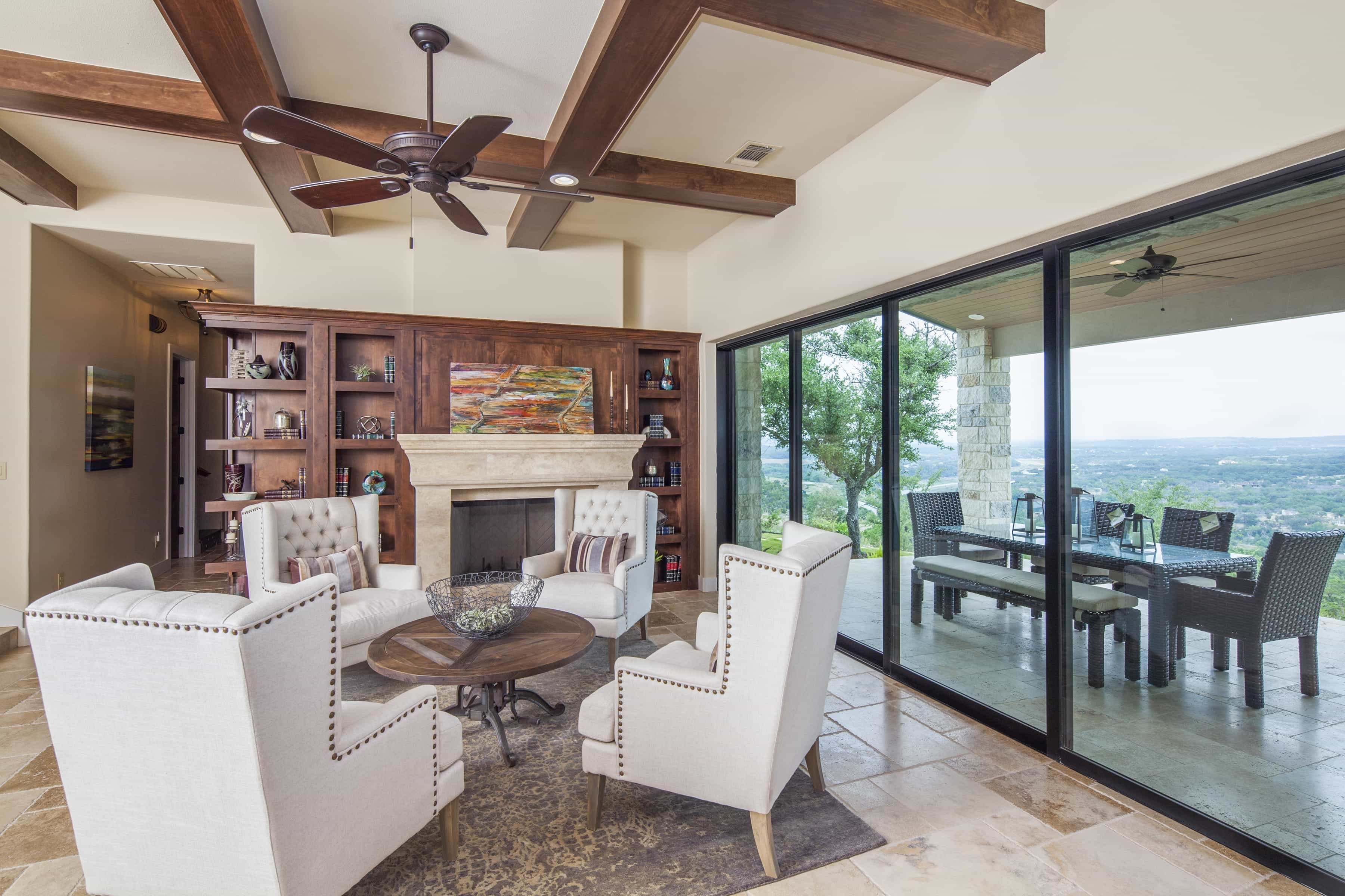 Tips: Perfect Sliding Doors With Blinds (#1 of 27 Photos) on Seamless Indoor Outdoor Living id=75595
