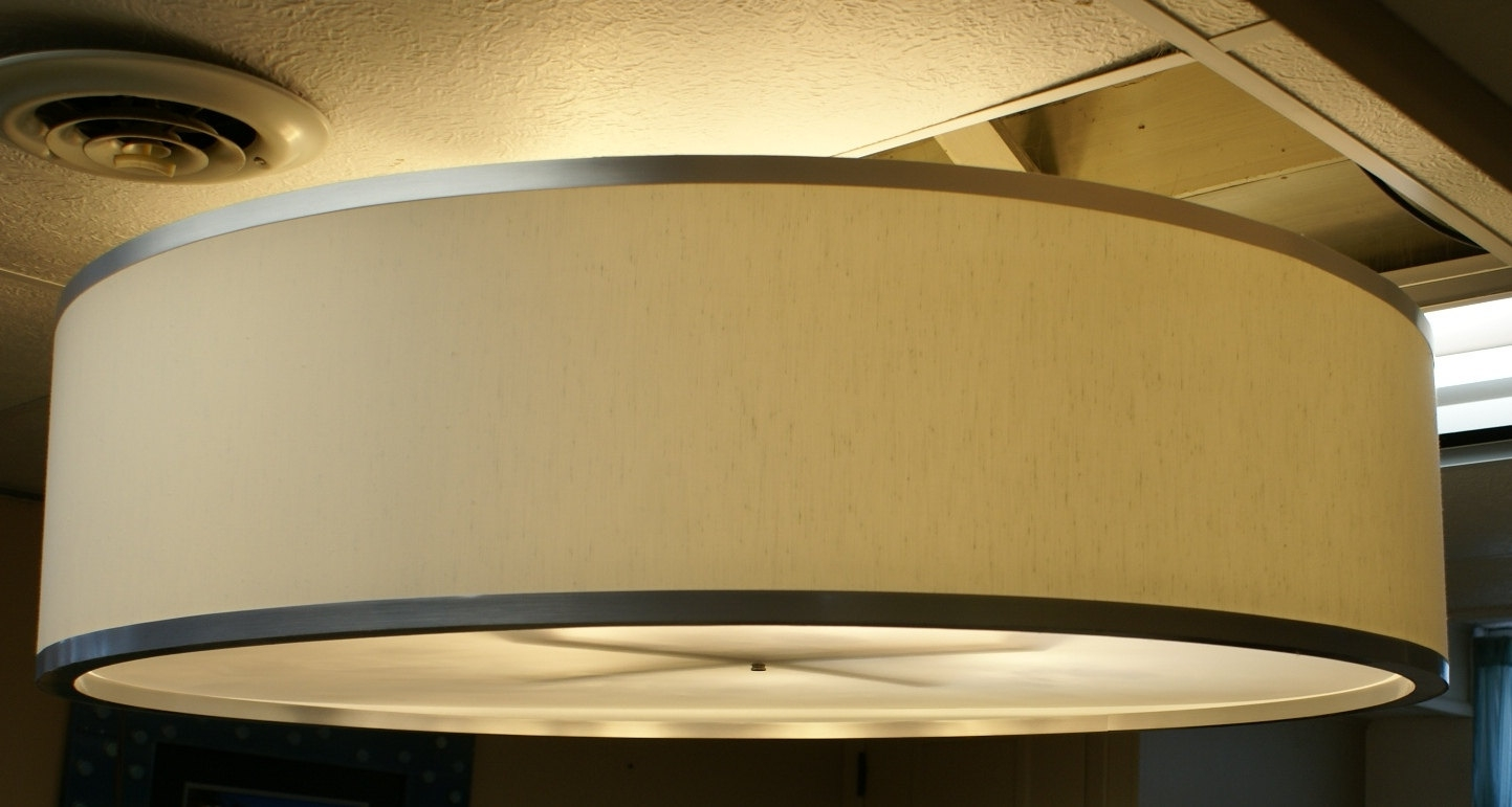 Fabric Drum Pendant Lights