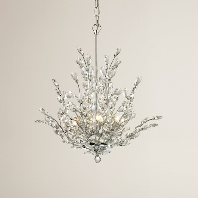 House Of Hampton Ryde 6 Light Crystal Chandelier Reviews Wayfair For Branch Image