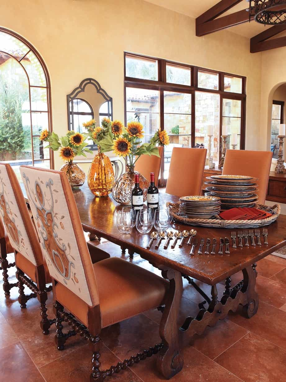 Italian Dining Room In Rustic Style 71748 House