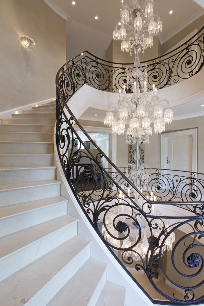 Looking Up At A Chandelier In Baccarat Museum Paris Would Look For Stairway Chandeliers Photo