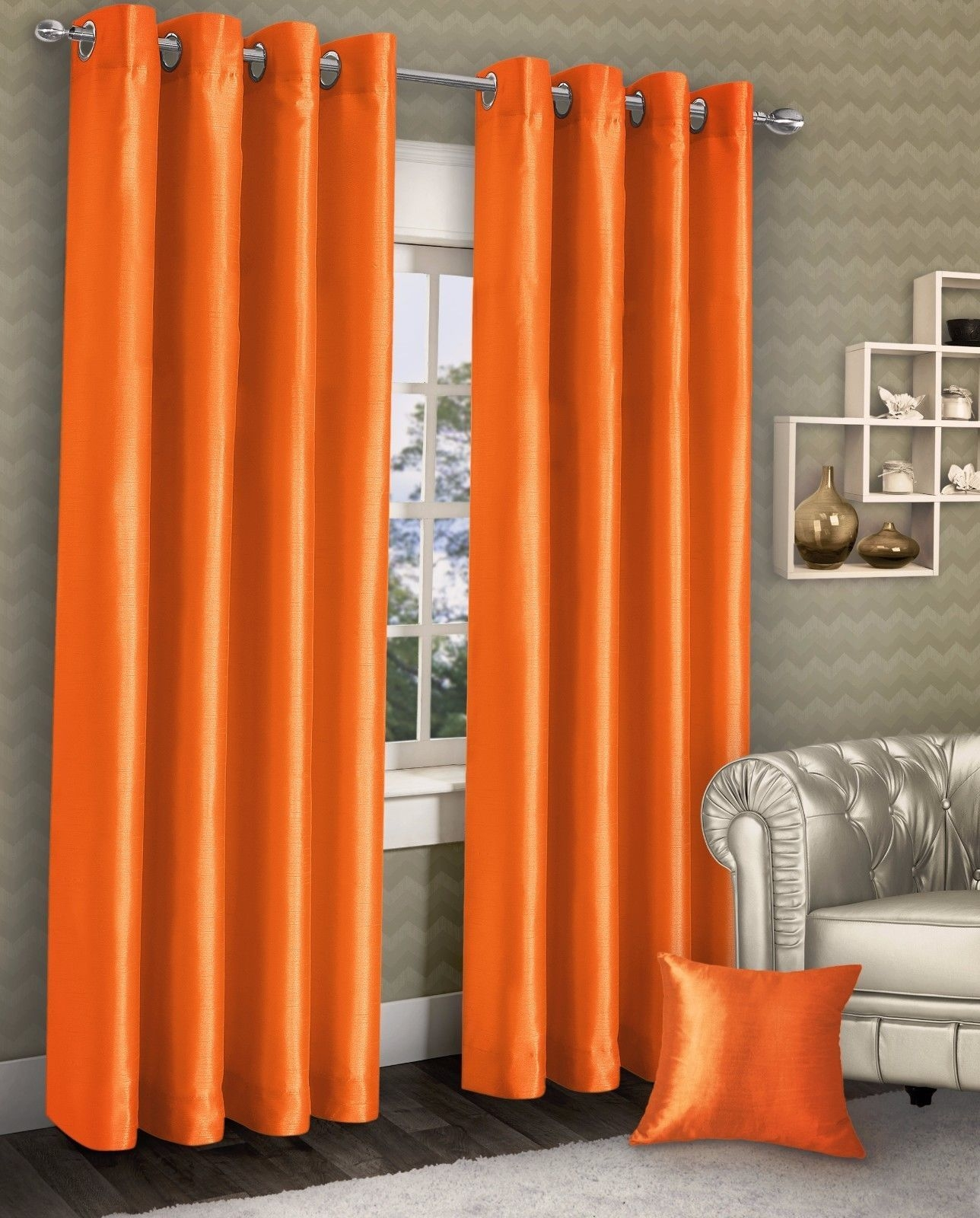 15 Best Ideas Orange Silk Curtains