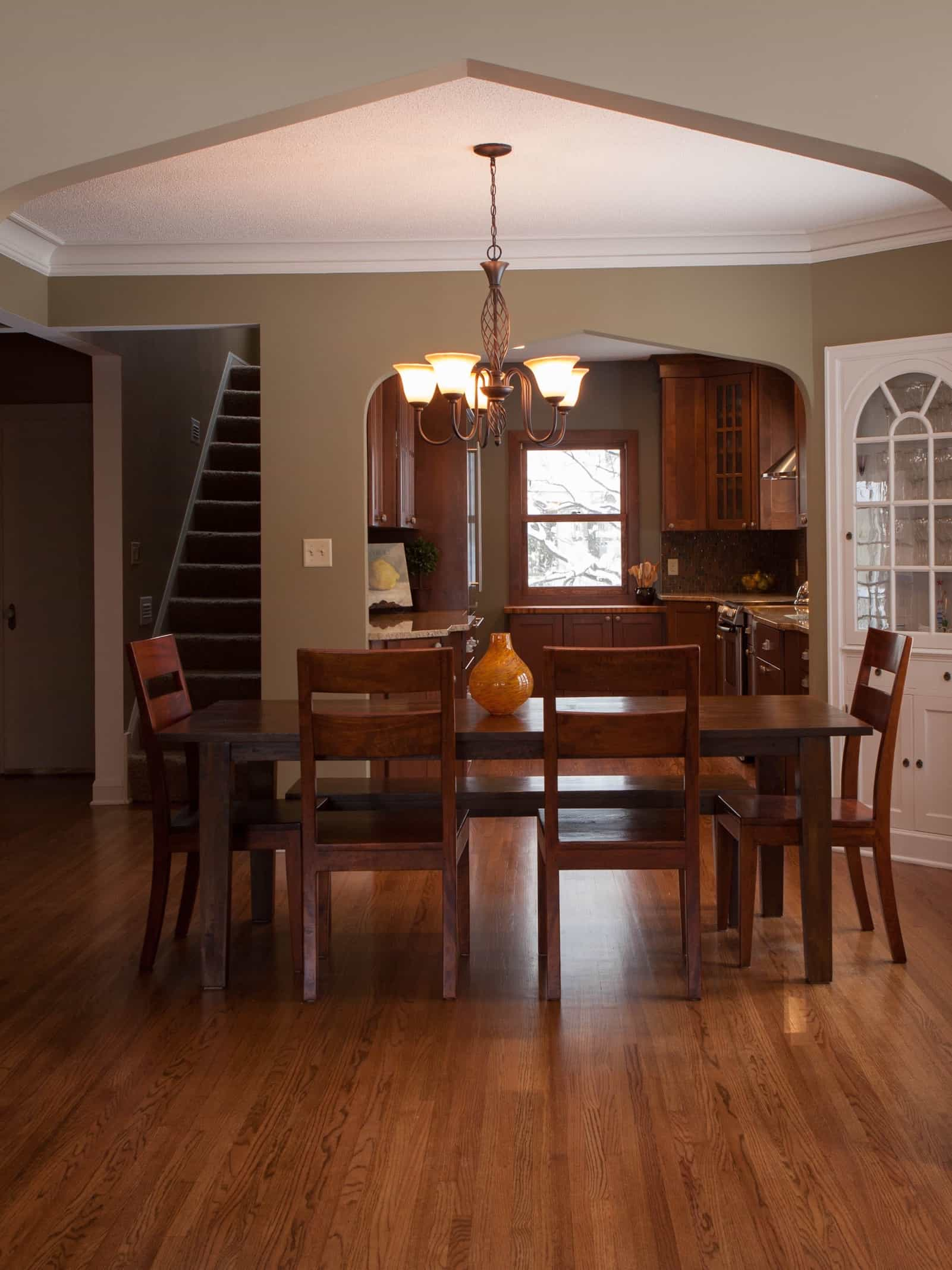 simple craftsman style dining room with wood furniture on kitchen design ideas photos and videos hgtv id=38666