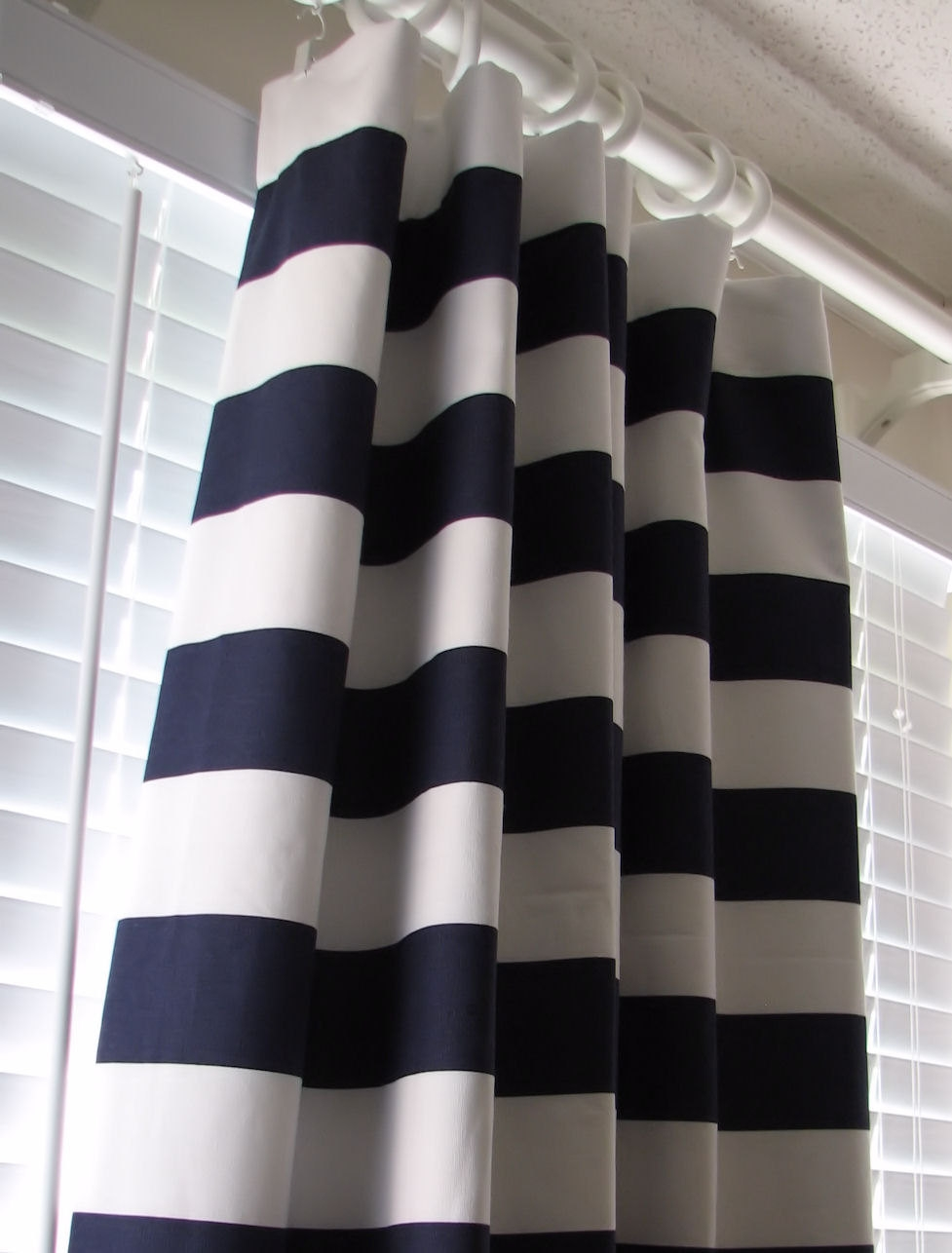 25 Collection Of Navy And White Polka Dot Curtains Curtain Ideas
