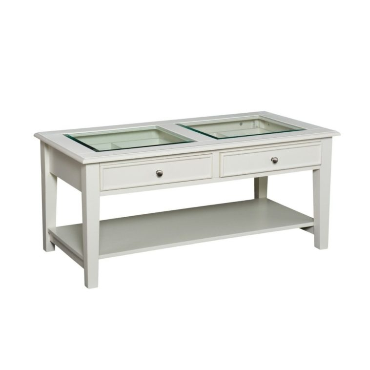 glass display coffee table