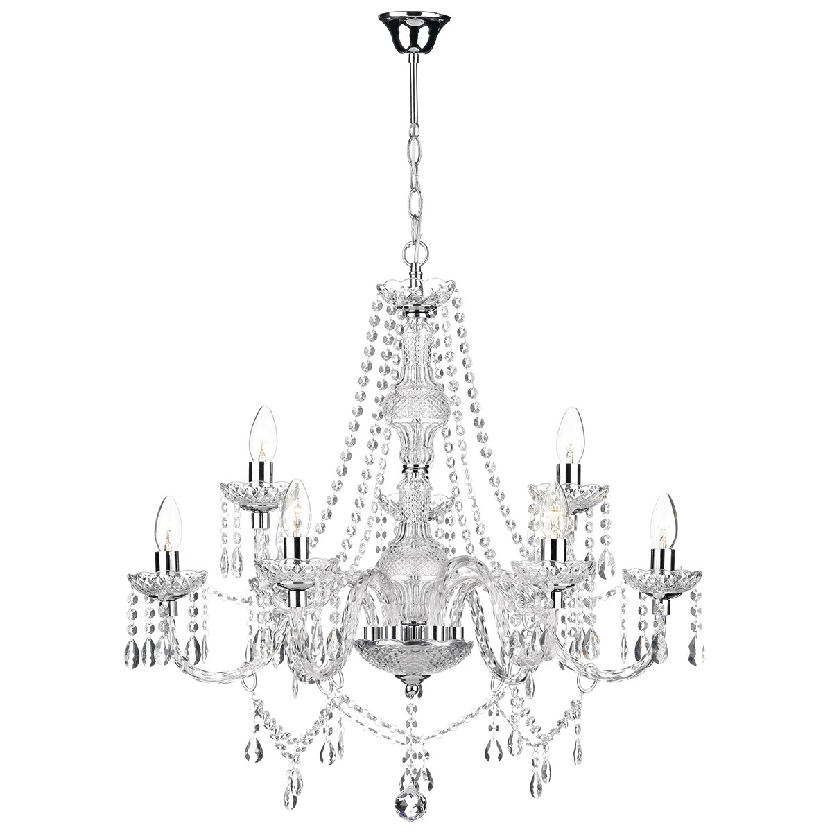 Top 25 Chrome And Glass Chandeliers