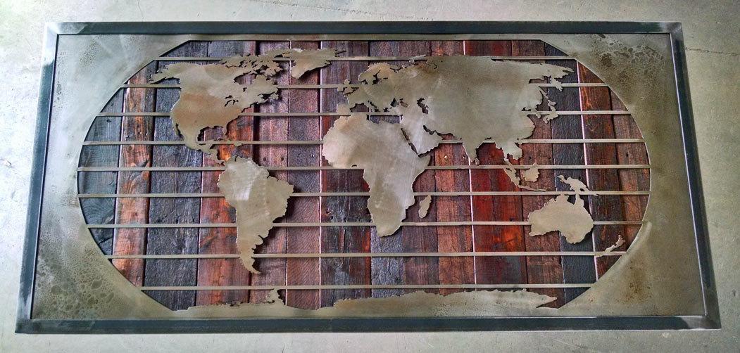 20+ Framed Map Wall Art