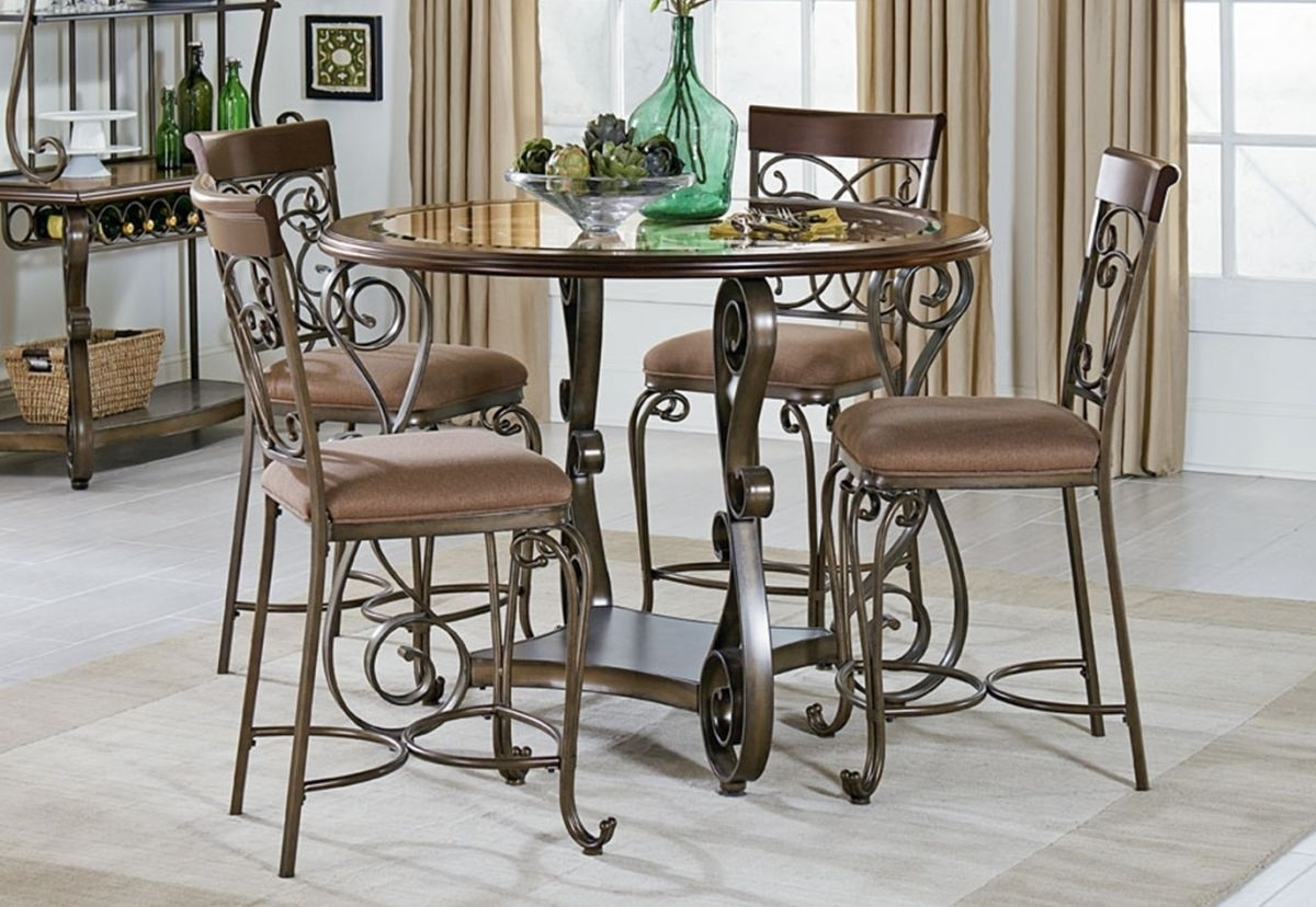 Room ideas our design tips will help you create a showstopping dining room that will impress your guests and your f. 20+ Valencia 5 Piece Round Dining Sets With Uph Seat Side ...