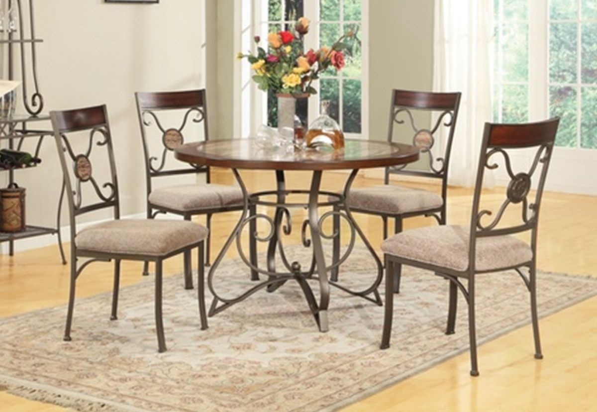 Oak for furniture, & more! 20+ Valencia 5 Piece Round Dining Sets With Uph Seat Side ...