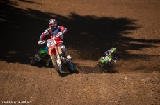 Tommy Hahn working hard in moto 2 at Washougal_vurbmoto photo