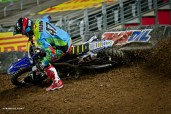 Tommy driving hard in Glendale SX (vurbmoto photo)