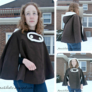 Go To Cape pattern sewn by Hems2Dolls