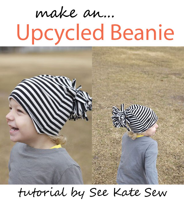 upcycled beanie