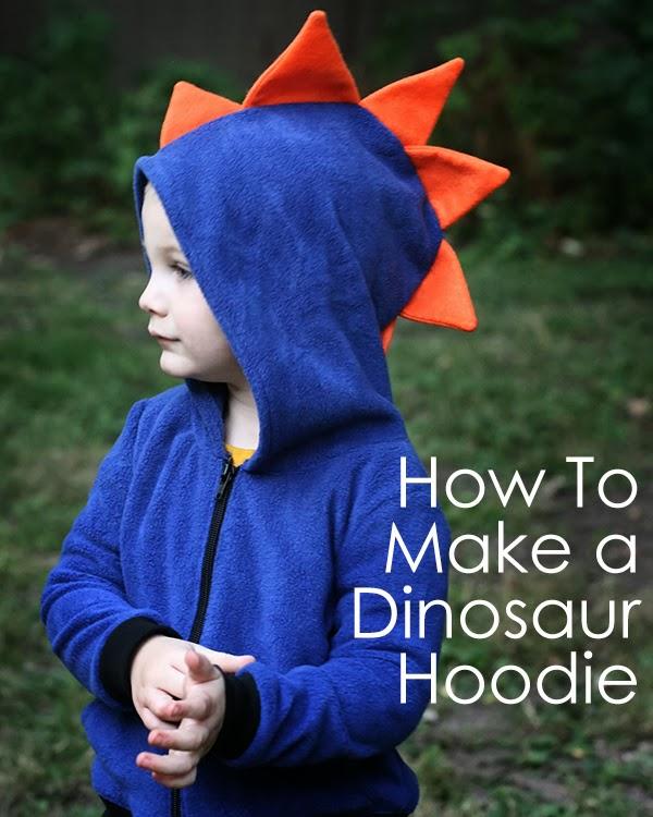 how to make a dinosaur hoodie