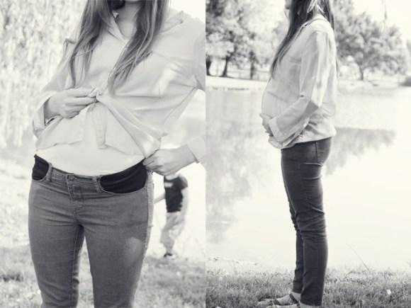 stretchy pocket maternity pants tutorial