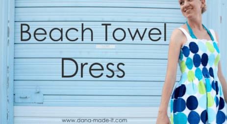 beach towel dress