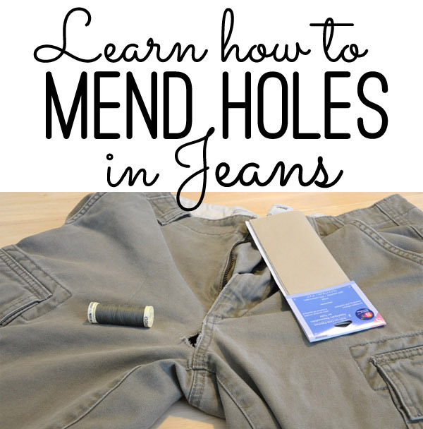 Learn to Mend Holes in Jeans  by The Seasoned Homemaker - Sewtorial