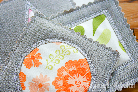 Fabric Coasters Tutorial (great beginners project) by Sometimes Crafter - Sewtorial