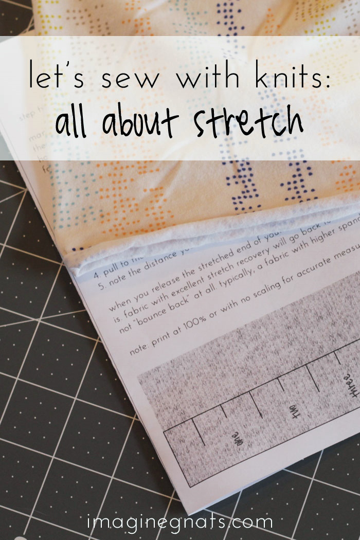 Learn how to measure stretch when choosing the perfect knit fabric for your next project / by Imagine Gnats - Sewtorial