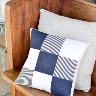 DIY Denim Quilted Pillow by A Pumpkin and A Princess - Sewtorial
