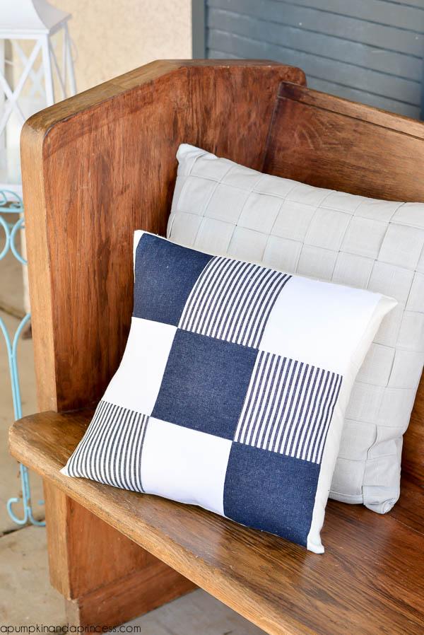 DIY Denim Quilted Pillow by A Pumpkin and A Princess - Sewtorial