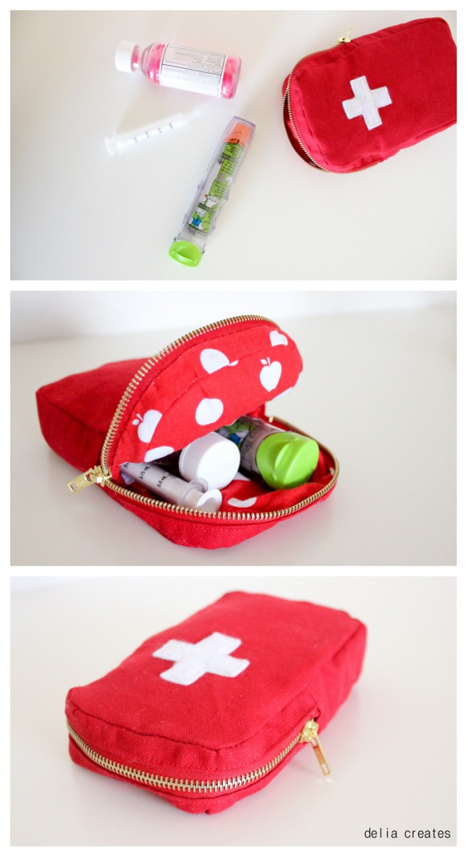 Delia Creates shares an EpiPen case tutorial to store supplies in case of emergency. - Sewtorial
