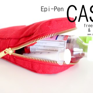 Delia Creates shares an EPI-Pen case tutorial to store supplies in case of emergency. - Sewtorial