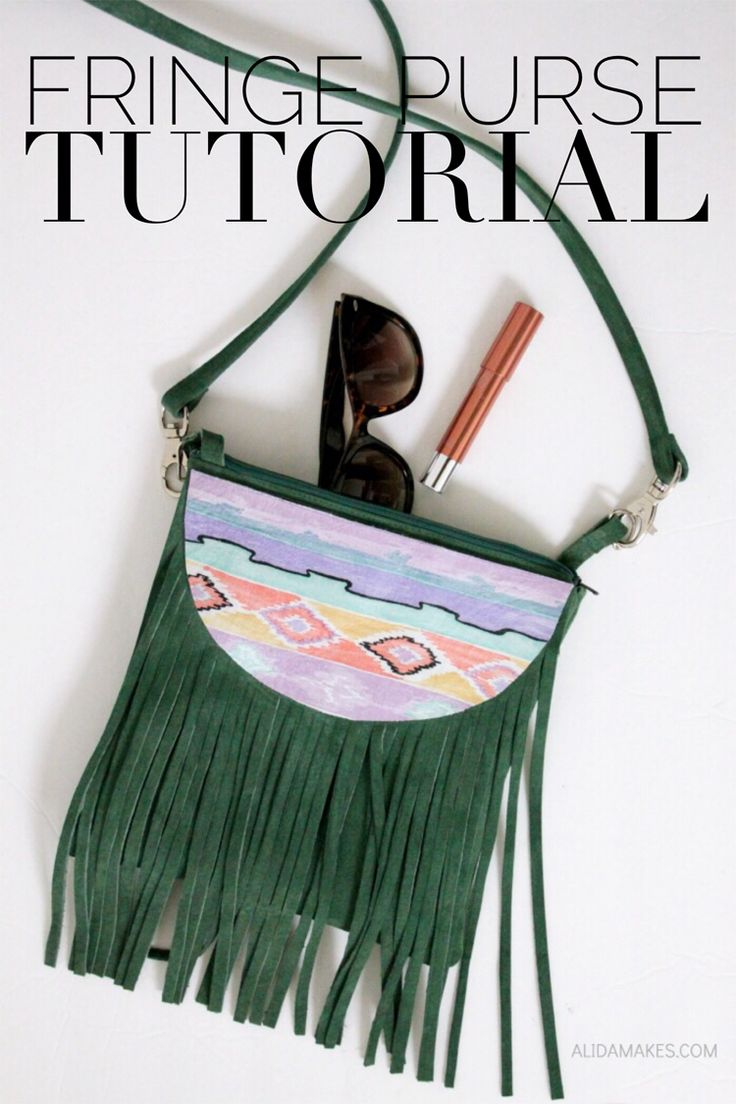 Looking for a trendy retro inspired bag? Alida Makes shares a fringe purse tutorial that will inspire you to sew one in every color. -Sewtorial