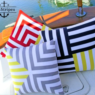 These nautical inspired striped pillows look amazing. Sew 4 Home shares a detailed pillow tutorial on how to make this gorgeous trio. - Sewtorial