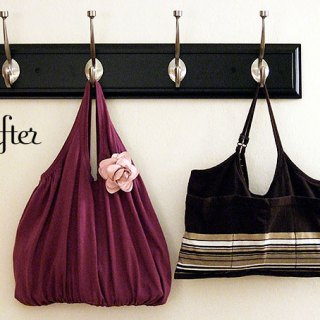 I love these tank top totes by Crafty Nest. These lovely bags are just as comfy toting around as they are on. -Sewtorial
